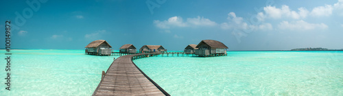 Photo  Wonderful lagoon around a maldivian island