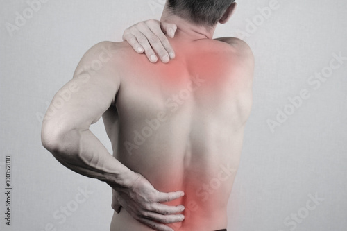 Fotografie, Obraz  Man with neck and back pain