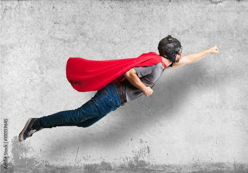 Fotografía  super hero flying