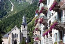 Chamonix Mont Blanc Village Square, France