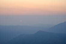 Beautiful Sunrise View Of Mountain Landscape At Phu Rua National