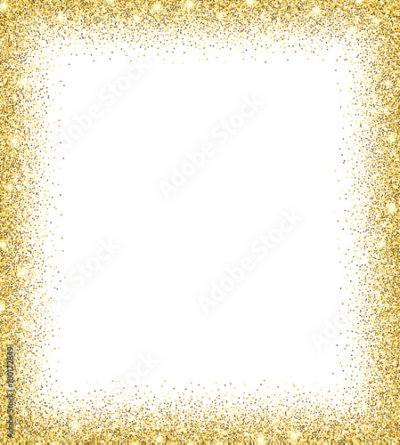 Gold glitter background. Canvas Print