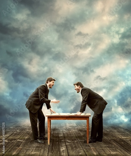 Fotografía  Two Businessman are Arguing on Business Meeting-Business Meeting Concept