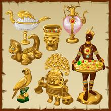 Ancient Oriental And Asian Golden Sculptures