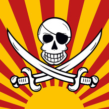 Jolly Roger à La Jack Rackham With Two Crossing Swords And Blin