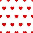 Leinwanddruck Bild - Red Hearts Seamless Tileable Pattern