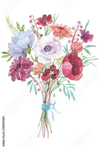 bukiet-kwiatow-akwarela