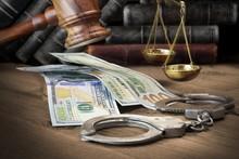 Concept For Corruption, Bankruptcy Court, Bail, Crime, Bribing,