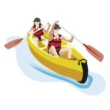 Canoë Kayak Avec 2 Personnes