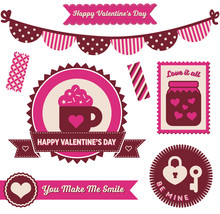 Valentine's Day - Badges And Elements