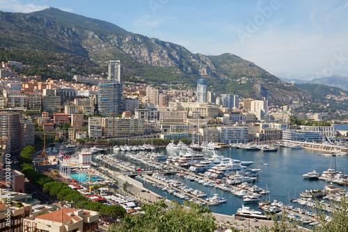 Monte Carlo harbor in a summer sunny day, Monaco Plakat