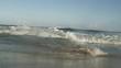 Static shot of Atlantic surf engulfing camera.