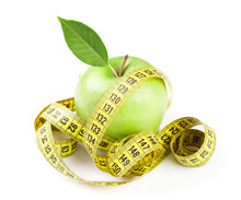Diet Concept. Apple And Tape M...
