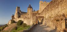 La Cite, Medieval Fortress City, Carcassonne, Languedoc-Roussillon, France