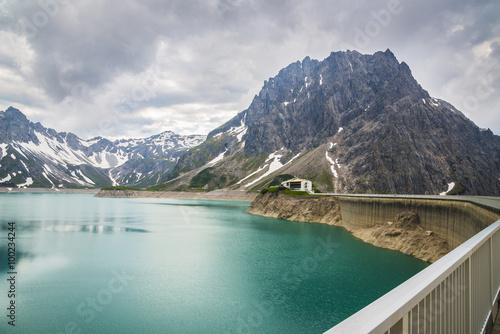 Poster Dam barrage d'eau/barrage au lac Lünersee
