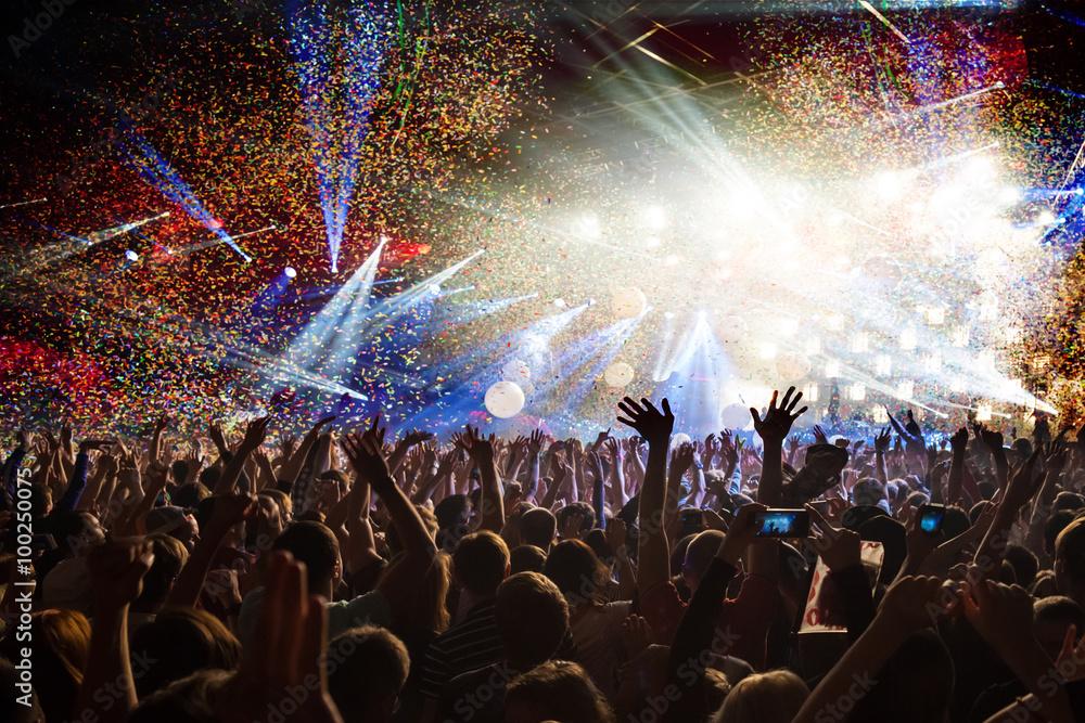 Fototapeta concert party disco