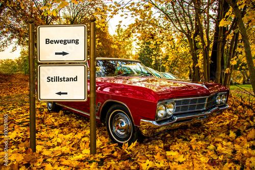 Fotografía  Strassenschild 56 - Bewegung
