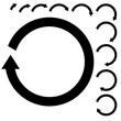 Circular arrows. Set round black arrows.