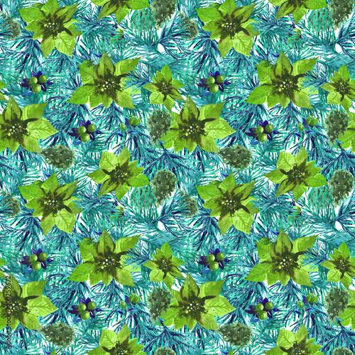 bozenarodzeniowy-botaniczny-akwarela-wzor