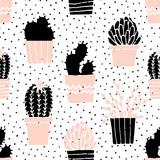 Ręcznie rysowane wzór kaktusa - 100263212
