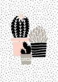 Hand Drawn Cactus Poster - 100263247