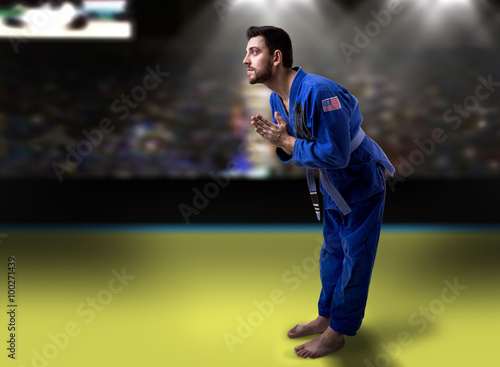 Fotografie, Obraz  American judoka in the stadium