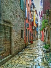 Fototapeta na wymiar street in Rovinj. Croatia.