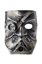 Carnival Stalker Mask At Dieselpunk Style, Isolated On White Background