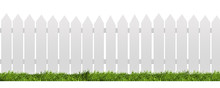 White Fence With Green Grass I...