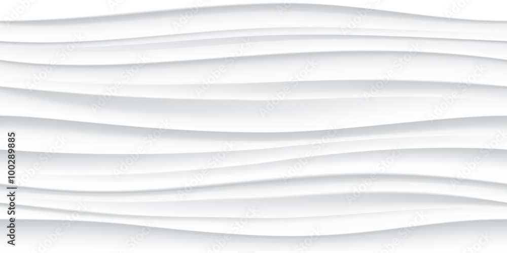 White seamless wave texture pattern background