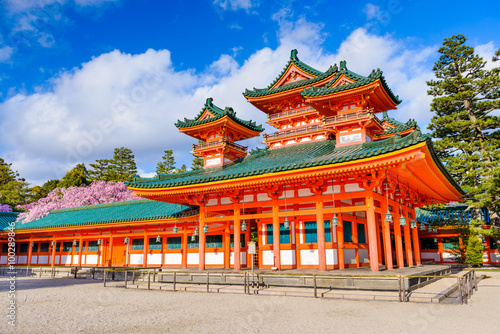 Obraz na płótnie Heian shrine of Kyoto, Japan.
