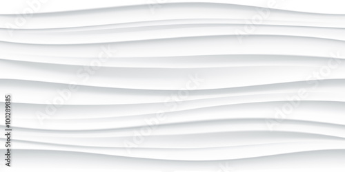 Photo Stands Abstract wave White seamless wave texture pattern background