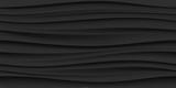 Czarny bezszwowy falowy tekstura wzoru tło - 100290040