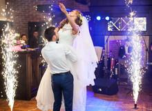 Beautiful Newlywed Couple Firs...