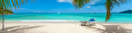 Tropical beach paradise Wallpaper Mural