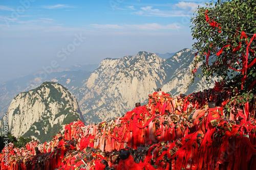Autocollant pour porte Xian Huashan Mountain, Xian, China