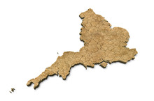 3D England Map Dry Earth