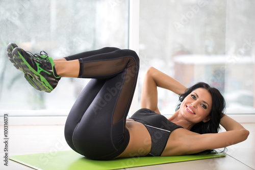 plakat athletic woman