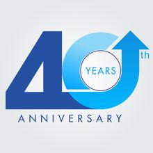 Template Logo 40th Anniversary, Vector Illustrator
