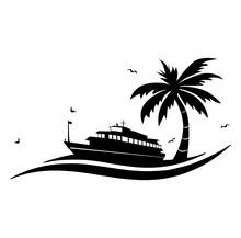 Schiff Symbol Palme