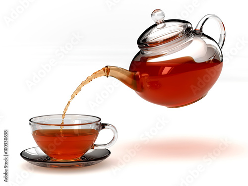 Fototapeta teapot and teacup