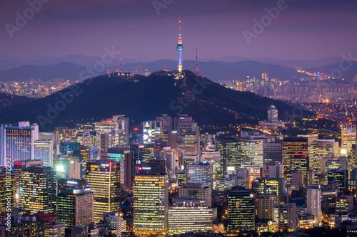 Korea,Seoul City Skyline .The best view of South Korea. Poster