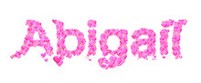 Abigail Female Name Set With H...