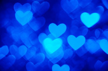Heart Background Photo Blue Color