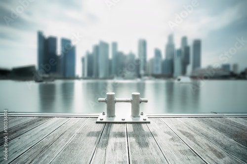 Backlit city skyline Canvas Print