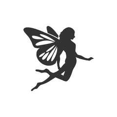 Naklejka Flying Fairy Silhouette
