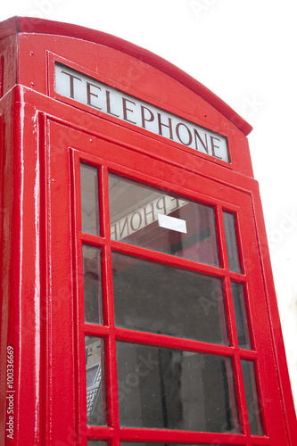 Poster London Red Telephone Box in London