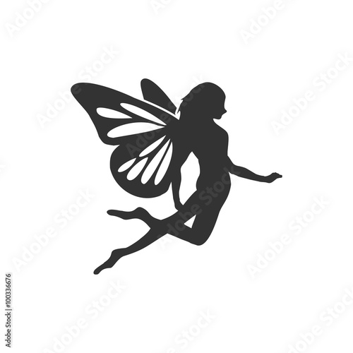 Fotografie, Tablou  Flying Fairy Silhouette
