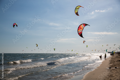 Kite Surfen in Mui Ne in Vietnam