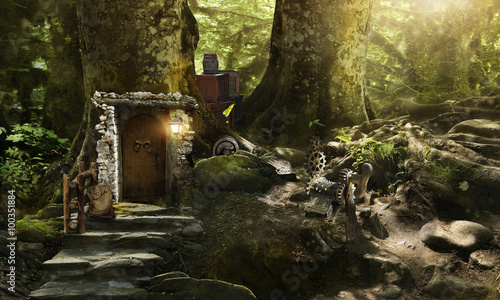 Photo  Housing dwarves and elves in a magical forest